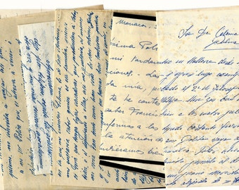 Instant Download - Vintage handwritten letters from SPAIN