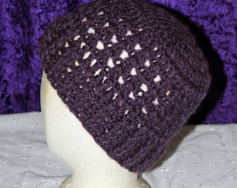 Cozy Ribbed Hat (Grape)