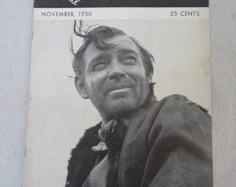 Vintage International Photographer Magazine w/ Clark Gable 1950
