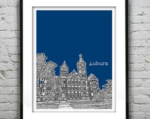 Auburn Alabama Poster Art AL