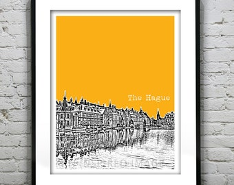 The Hague Netherlands City Skyline Poster Art Print