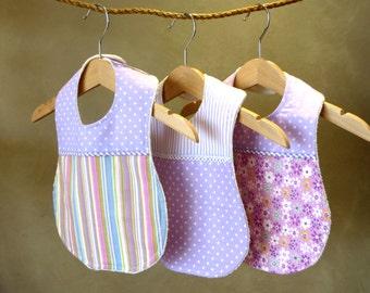 Baby Bib - Set of 3 Boutique Bibs / baby shower gift