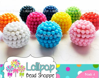 Berry Beads 20mm Beads Raspberry Beads Vintage Style Beads MIX Chunky Beads Bubblegum Beads Acrylic Beads Opaque Bubble Gum Beads