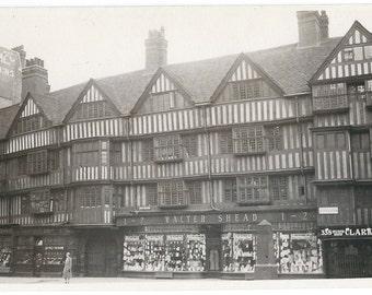 Holborn, London Half-Timbered Houses Photo Postcard c. 1920