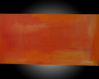 "Tangerine-Original Abstract Acrylic Painting.  Size 24""x48""x1.5"""