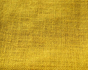 Yellow Burlap Fabric - Quarter Yard Natural fabric - 100 percent natural burlap - Jute - Hessian-we take wholesale fabric orders-Quarter yar