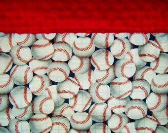 Nap Mat Cover / Toddler Sleeping Cot Cover - Baseballs - Different Cover Options to Choose From