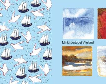 Miniature tile Vlieland poems booklet