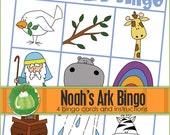 NOAH'S Ark BINGO - Downloadable PDF Only