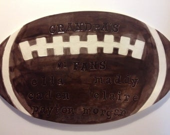 Grandpas #1 Fans Football Keepsake