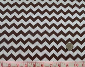 Brown Chevron Fabric Clearance