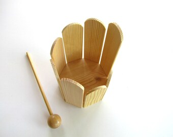 Musical toy, Stirring Drum, Natural Round Xylophone, eco friendly toy, Gift for Children