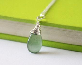 Serpentine Briolette Necklace