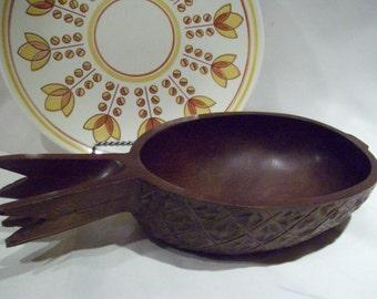 Vintage Carved Teak Pineapple from San Tropez