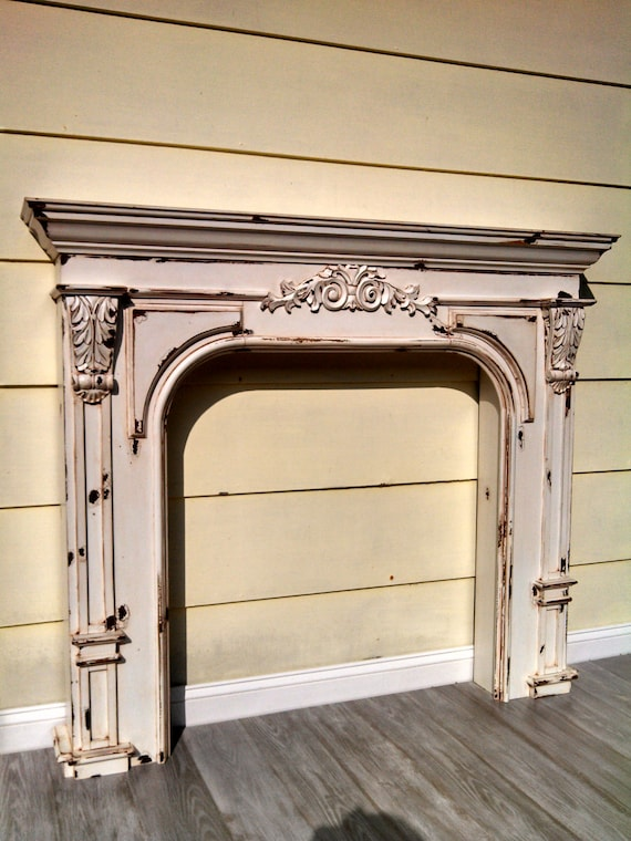 Items Similar To Vintage French Country Farmhouse Fireplace Mantel Reproduction Fireplace Mantel
