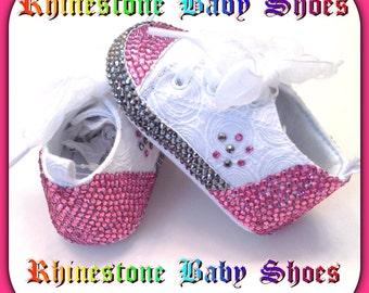 Rhinestone baby shoes