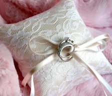 wedding ceremony decorations garlands signs ring pillows