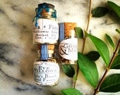15 Custom Washi Tape Customized Wildflower Seed Favors in Glass Bottles: For Mirfie