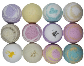 12 BUBBLE Bath Bombs - You Choose Scents