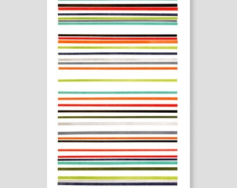 Letterpress Stripes Print (Bright)