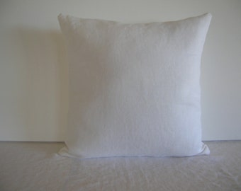 White Linen 14x14 Pillow Cover