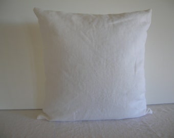 White Linen 18x18 Pillow Cover