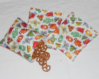 Reusable Snack & Sandwich bags- Set  of 3 pcs ( You choose pattern )