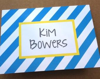 Personalized Notecard Stationery - Kim Stripes