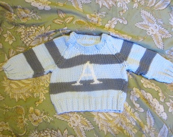 Made to Order Monogrammed Baby Sweater