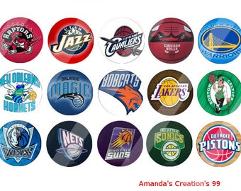 NBA 3 bottle cap images sheets