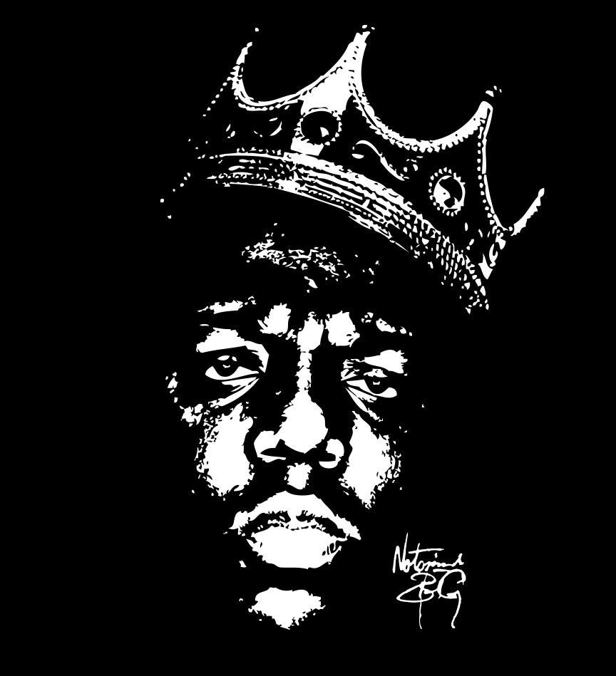 biggie smalls crown stencil - photo #7