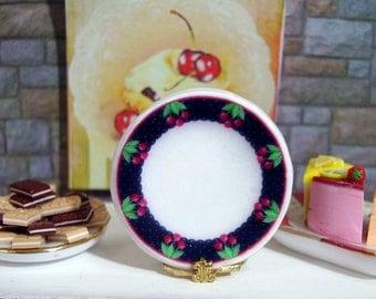 Cherryes Dollhouse Miniature Plate 1:12 Scale