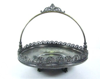Antique brides basket,Silver candy dish, serving bowl, silver bowl, silver dish,basketAntique brides basket