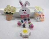 Easter Lapel Pins - Fun Holiday Brooch - Wooden Easter Bunny - Easter Egg - Hallmark Cards Pin