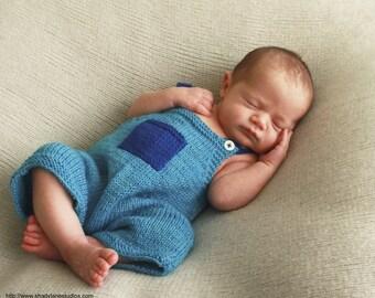 Knit newborn overalls/shortalls - photo prop - everyday wear - baby boy overalls - baby girl overalls - baby gift - newborn overalls