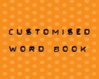 6 Letter Word Album Pre Made Scrapbook Memory Book