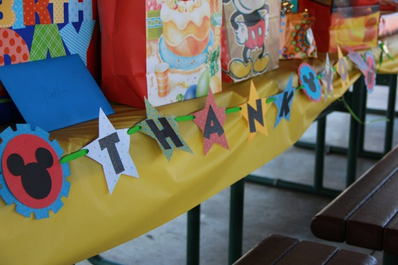 "Mickey Mouse Clubhouse Inspired ""Thank You"" banner"
