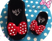 Minnie Mouse Slippers - baby to adult sizes