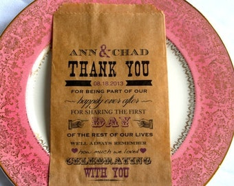 Candy Buffet Bag Lovely-Wedding Favor Bag-Personalized Favor Bag