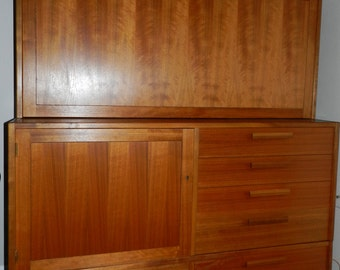 Mid Century Swedish Teak Bar Cabinet SEE Special Delivery Note