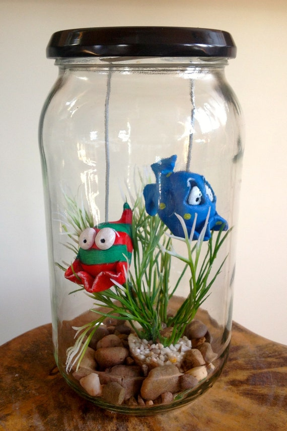 Fish in a jar bob marv pet quirky gift for Fish in a jar