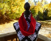 Infinity Cowl, Twist scarf, Moeibus scarf MADE TO ORDER
