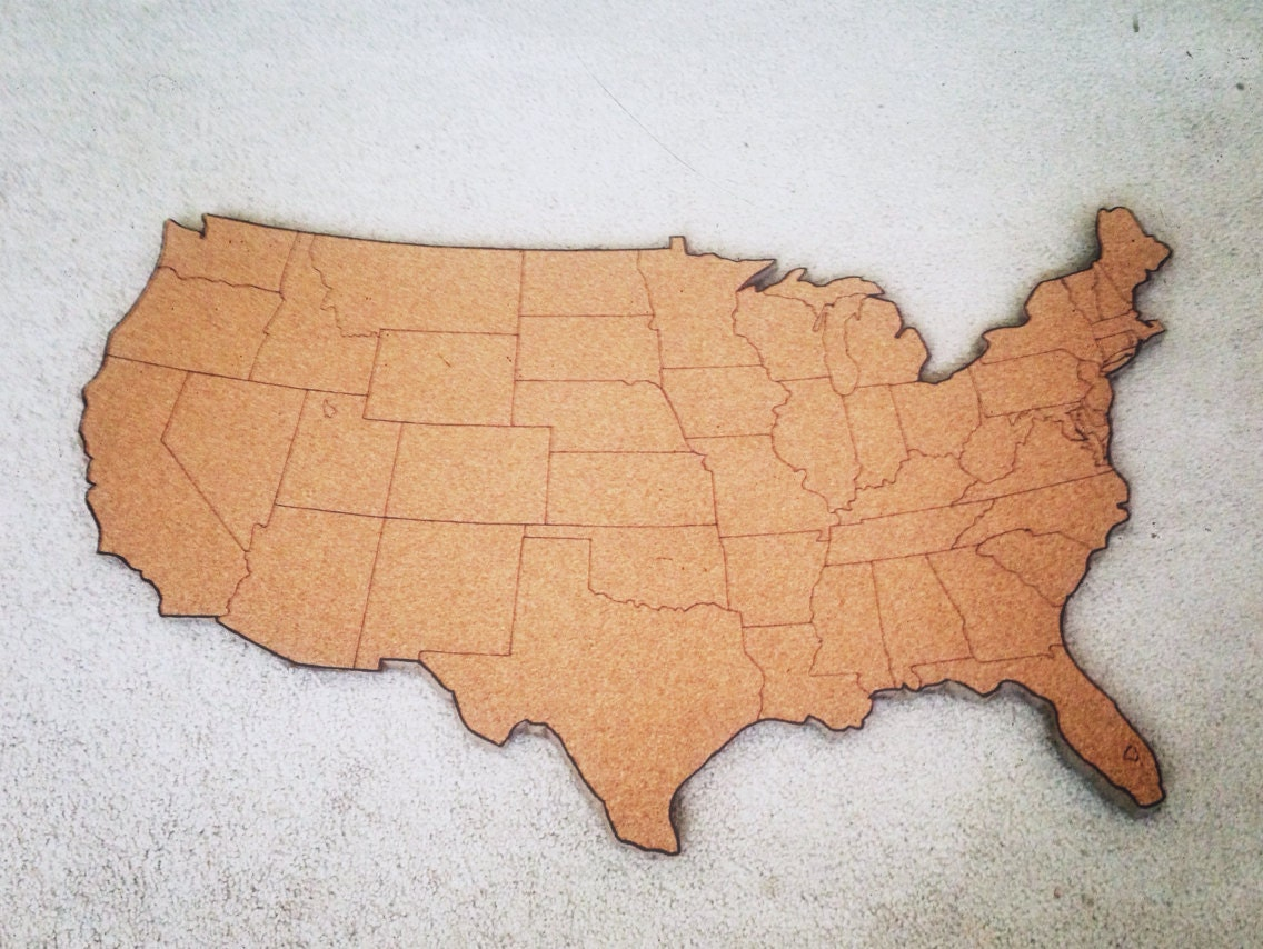 Diy map cork board crafthubs large united states corkboard map usa cork map pin board gifts gumiabroncs Image collections