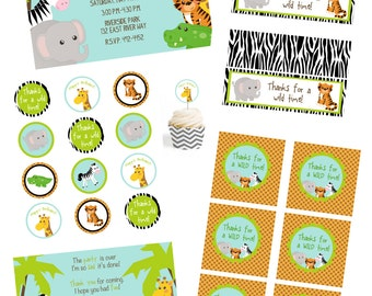Jungle Printable Party Package