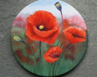 Poppy Sandstone Coaster