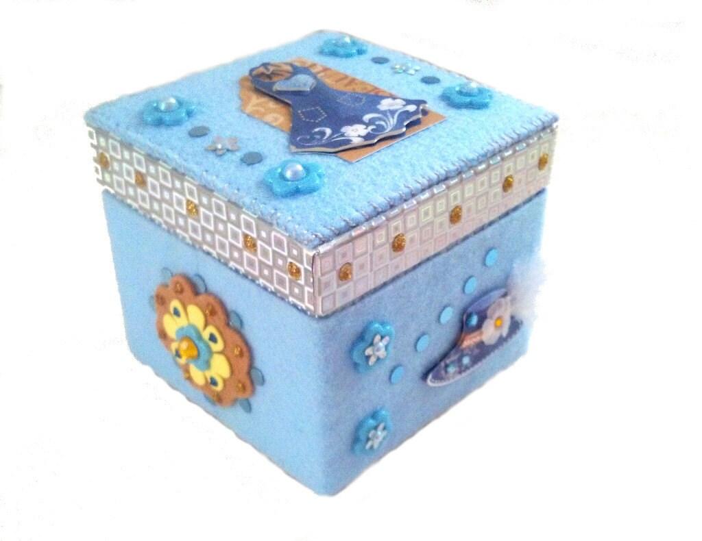 Decorative Baby Gift Box : Girly gifts keepsake box decorative blue teen