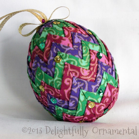 NEW Quilted Easter Egg Ornament Christmas By