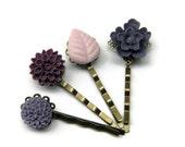 Purple Ombre bobby pin gift set - ArtsyLadyVintage