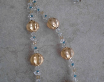 Gold Melon Bead Necklace