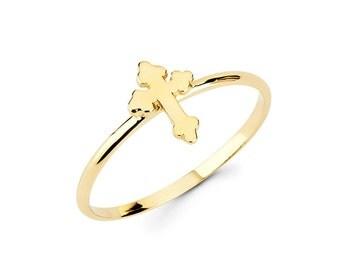 Cross, Religious, Cross Ring, Dainty Jewelry, Cross Jewelry, Religious jewelry, knuckle Ring